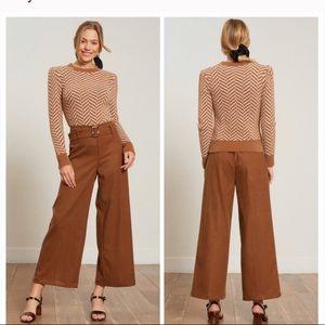 Lucy Paris NWT chevron print tan sweater